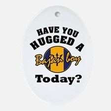 Have you hugged a Bajan boy today? Oval Ornament