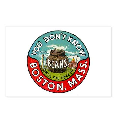 Boston Massachusetts Beans Postcards (Package of 8