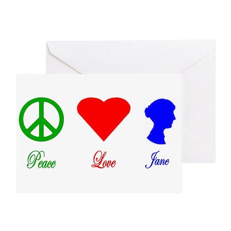 Peace. Love. Jane. Greeting Card