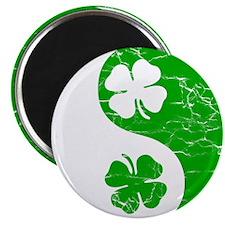 Yin Yang Clovers 2 Magnet