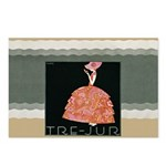 Tre Jur Perfume Advertisement Postcards (Package o