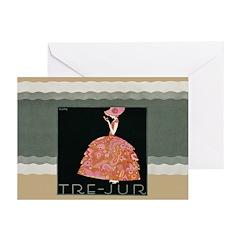 Tre Jur Perfume Advertisement Greeting Cards (Pk o
