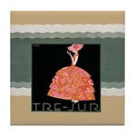 Tre Jur Perfume Advertisement Tile Drink Coaster