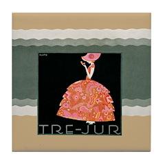 Tre Jur Perfume Advertisement Tile Drink Coaster