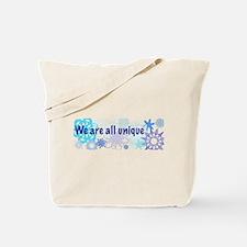 Snowflakes Collage Tote Bag