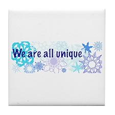 Snowflakes Collage Tile Coaster