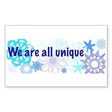 Snowflakes Collage Rectangle Decal