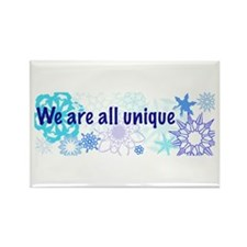 Snowflakes Collage Rectangle Magnet