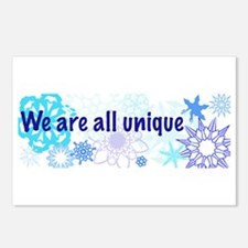 Snowflakes Collage Postcards (Package of 8)