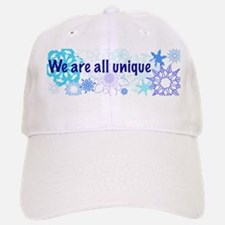 Snowflakes Collage Baseball Baseball Cap