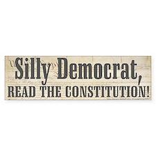 Democrat Silliness Bumper Bumper Sticker
