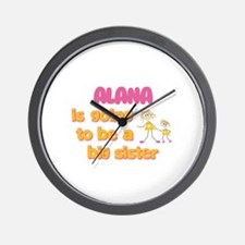 Alana - Going to be Big Siste Wall Clock