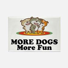 More Dogs More Fun Rectangle Magnet