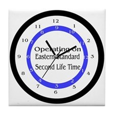 Operating on Second Life Time Tile Coaster