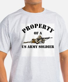 Property US Army Soldier Military Ash Grey T-Shirt