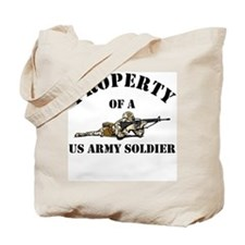 Property US Army Soldier Military Tote Bag