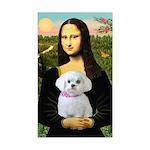 Mona's Maltese (R) Sticker (Rectangle)