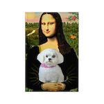Mona's Maltese (R) Rectangle Magnet
