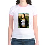Mona's Maltese (R) Jr. Ringer T-Shirt
