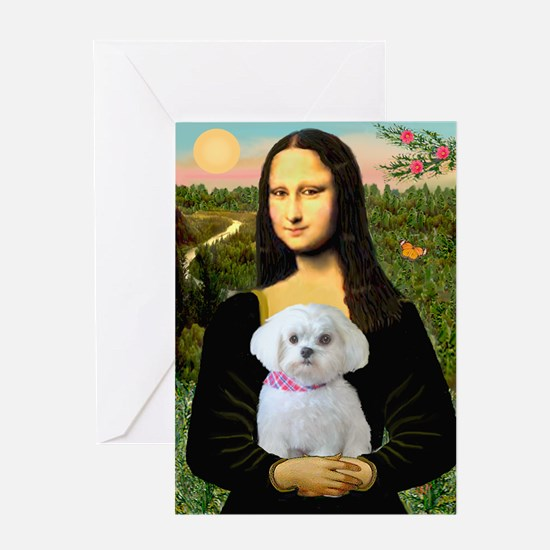 Mona's Maltese (R) Greeting Card