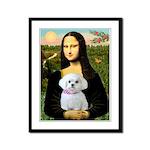 Mona's Maltese (R) Framed Panel Print