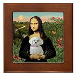 Mona's Maltese (R) Framed Tile