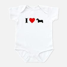 I Love Sealyham Terrier Baby Bodysuit