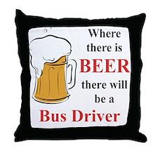 Bus Driver Throw Pillow