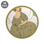 "Vintage Ad Illustration 3.5"" Button (10 pack)"
