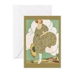 Vintage Ad Illustration Greeting Cards (Pk of 20)