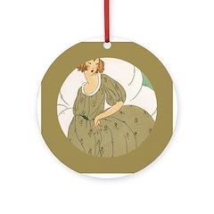 Vintage Ad Illustration Ornament (Round)