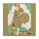 Vintage Ad Illustration Tile Drink Coaster