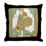 Vintage Ad Illustration Throw Pillow