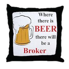 Broker Throw Pillow
