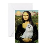 Mona Lisa / Maltese Greeting Cards (Pk of 10)