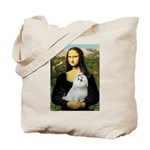 Mona Lisa / Maltese Tote Bag