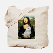 Mona Lisa / Maltese Tote Bag