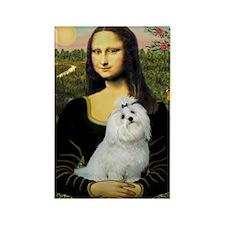 Mona Lisa / Maltese Rectangle Magnet