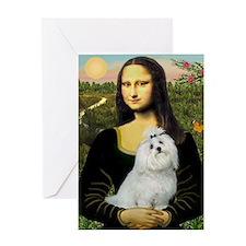 Mona Lisa / Maltese Greeting Card