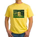 Lilies / Maltese Yellow T-Shirt