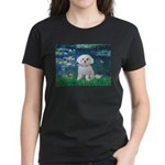 Lilies / Maltese Women's Dark T-Shirt