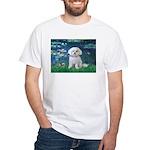 Lilies / Maltese White T-Shirt