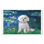 Lilies / Maltese Sticker (Rectangle)