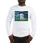 Lilies / Maltese Long Sleeve T-Shirt