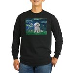 Lilies / Maltese Long Sleeve Dark T-Shirt