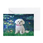 Lilies / Maltese Greeting Cards (Pk of 20)