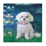 Lilies / Maltese Tile Coaster