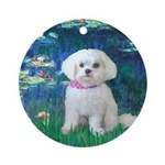 Lilies / Maltese Ornament (Round)