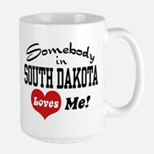 Somebody in South Dakota Loves Me Large Mug