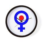 Mod Female Symbol Wall Clock